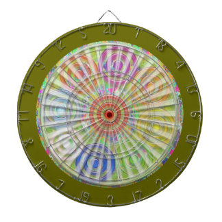DART Chakra 118 Engrave Red Blue Cosmic Waves Dartboard