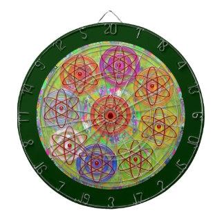 DART Chakra 11 Engrave Electron Atom Cosmic Waves Dartboard With Darts