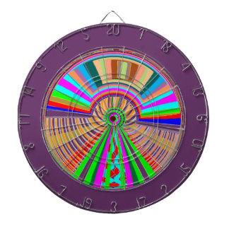 DART Chakra 124 Multiple - Wheel Fortune Waves Dartboard With Darts