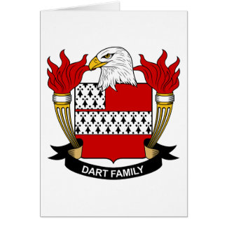 Dart Family Crest Card
