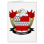 Dart Family Crest Greeting Card