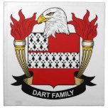 Dart Family Crest Printed Napkins