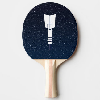 Dart Fins Sign Ping-Pong Paddle