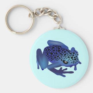 Dart Frog Basic Round Button Keychain