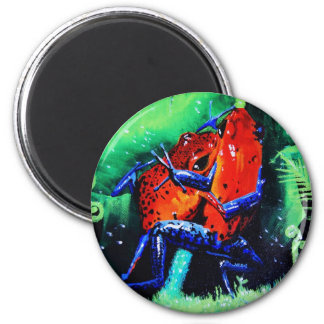 Dart Frog Whoopass! 2 Inch Round Magnet