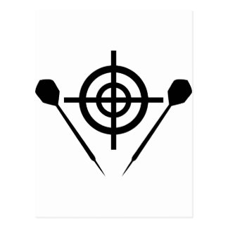 dart icon target postcard