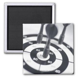 Dart in Bulls Eye 2 Inch Square Magnet
