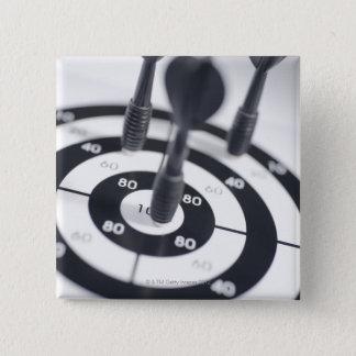 Dart in Bulls Eye Pinback Button