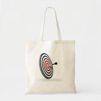 Dart on Dartboard Tote Bag