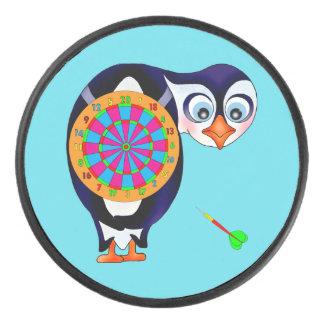 Dart Penguin by The Happy Juul Company Hockey Puck