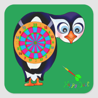 Dart Penguin by The Happy Juul Company Square Sticker