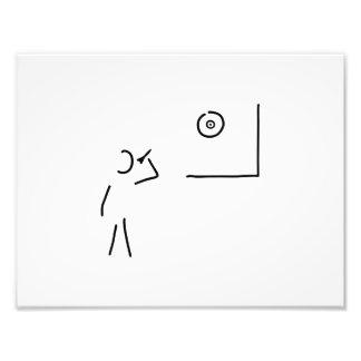 dart player target throw arrow photo print