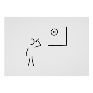 dart player target throw arrow poster