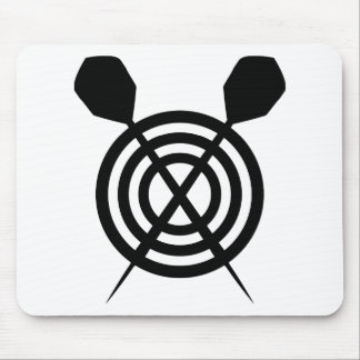 dart sport icon crossed mouse pad