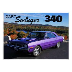 "1970 DODGE DART SWINGER LARGE MAN CAVE DECOR SHOWROOM  DECAL WALL ART 23/"" X 48/"""