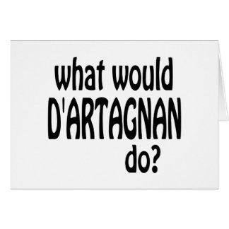 D'Artagnan Tarjeta De Felicitación