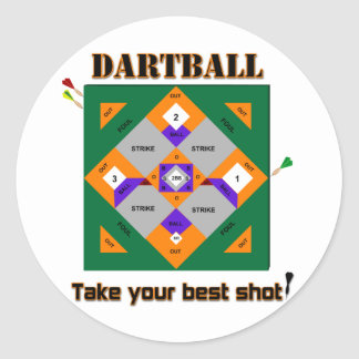Dartball Pegatina Redonda