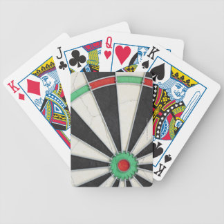 Dartboard 4 bicycle playing cards