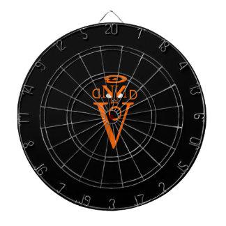 Dartboard anaranjado de la jaula del metal de la