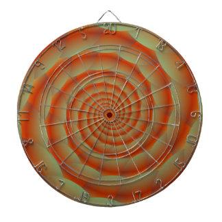 Dartboard anaranjado del espiral de la piel de ser tabla dardos