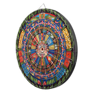 Dartboard azteca del calendario
