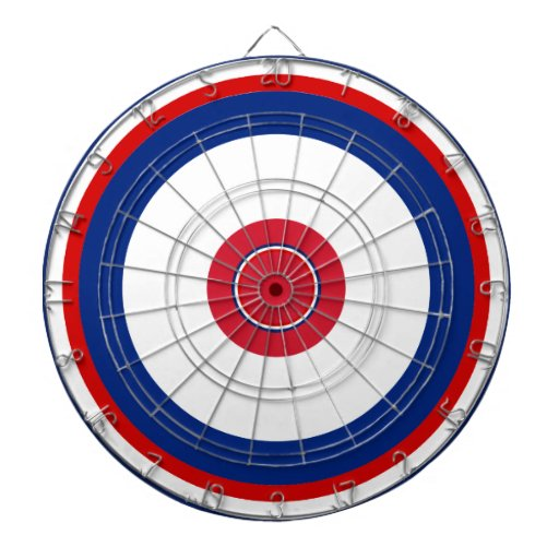 Dartboard azul blanco rojo patriótico de Roundel Tablero De Dardos