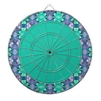 Dartboard azul claro bonito de la flor del lunar d