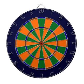 Dartboard azul, verde, de Brown y del naranja del