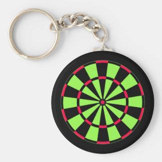 Dartboard Basic Round Button Keychain