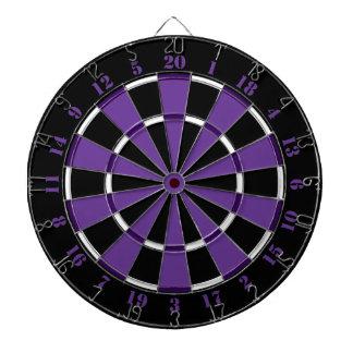 Dartboard blanco y negro púrpura