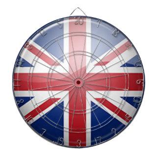 Dartboard BRITÁNICO del tema de la bandera Tablero Dardos