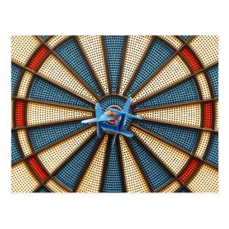 Dartboard Bullseye Postcard