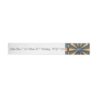 Dartboard Bullseye Wrap Around Address Label