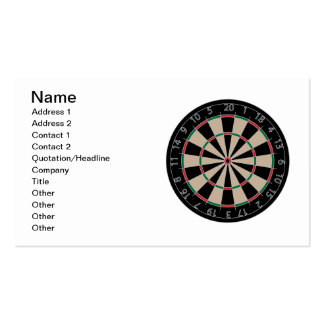 Dartboard Double-Sided Standard Business Cards (Pack Of 100)