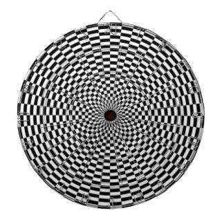 Dartboard/Checkered Dartboard With Darts
