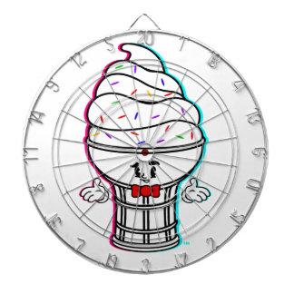 Dartboard clásico del blanco del helado del dibujo