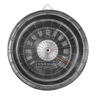 Dartboard clásico del velocímetro del coche del