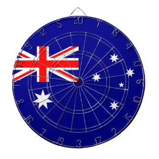 Dartboard con la bandera de Australia Tablero De Dardos