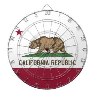 Dartboard con la bandera de California, los E.E.U.