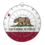 Dartboard con la bandera de California, los E.E.U. Tabla Dardos