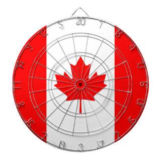 Dartboard con la bandera de Canadá