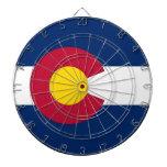 Dartboard con la bandera de Colorado, los E.E.U.U. Tablero Dardos