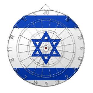 Dartboard con la bandera de Israel Tablero De Dardos