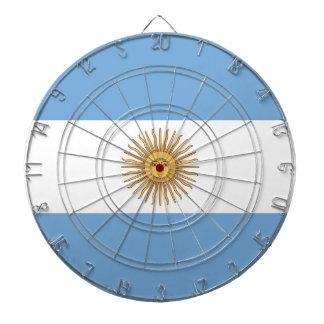 Dartboard con la bandera de la Argentina