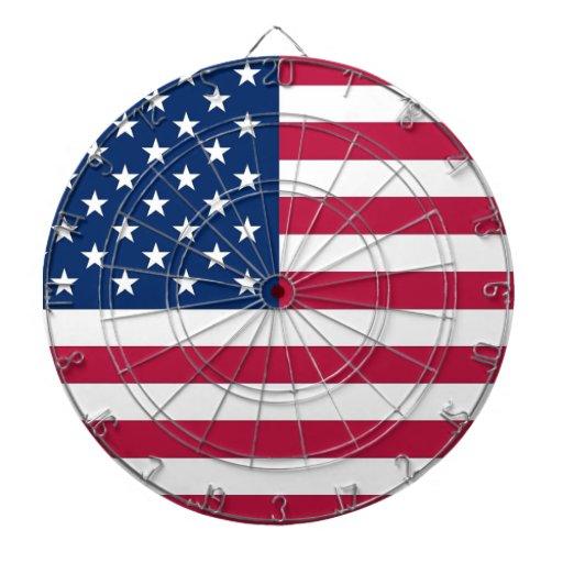 Dartboard con la bandera de los E.E.U.U.