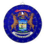 Dartboard con la bandera de Michigan, los E.E.U.U. Tablero Dardos