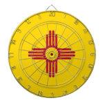 Dartboard con la bandera de New México, los E.E.U. Tablero De Dardos