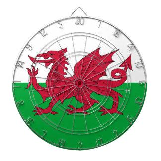 Dartboard con la bandera de País de Gales