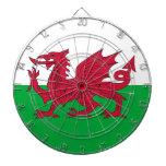 Dartboard con la bandera de País de Gales Tablero De Dardos