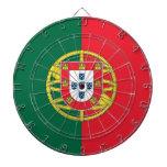 Dartboard con la bandera de Portugal Tablero Dardos